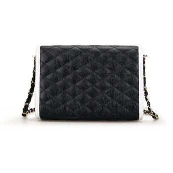 Lingge Chain Women Shoulder Bag Small Crossbody Bags High Quality Handbag - BLACK