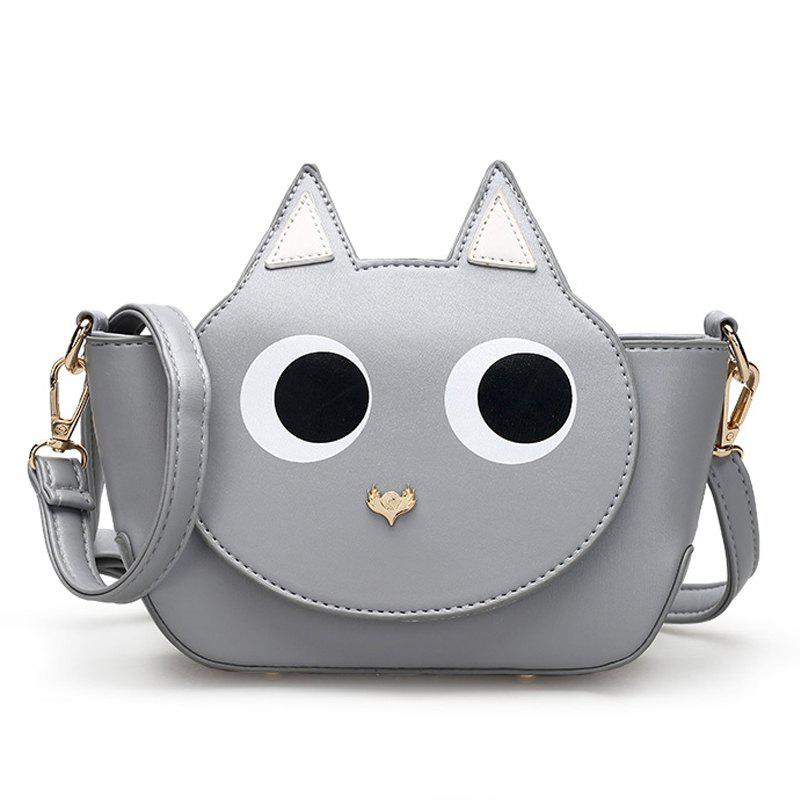 Women Small Crossbody Bags High Quality PU Leather Handbag - LIGHT GRAY