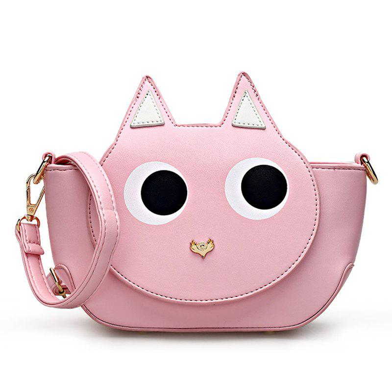 Women Small Crossbody Bags High Quality PU Leather Handbag - LIGHT PINK