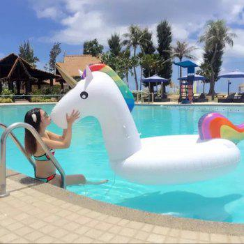 Giant Unicorn Inflatable Patch Swimming Pool Toy - WHITE