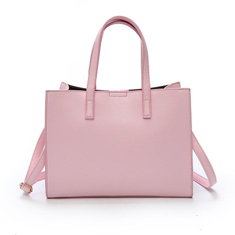 ZJ0215 Simple Tote Handbag - PINK