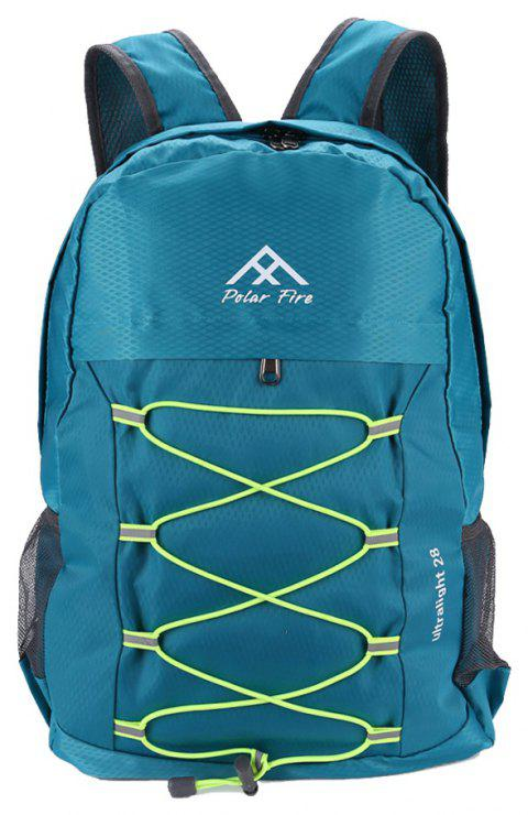 PolarFire Outdoor Travel Camping Backpack Water Resistant Foldable Bag - MACAW BLUE GREEN