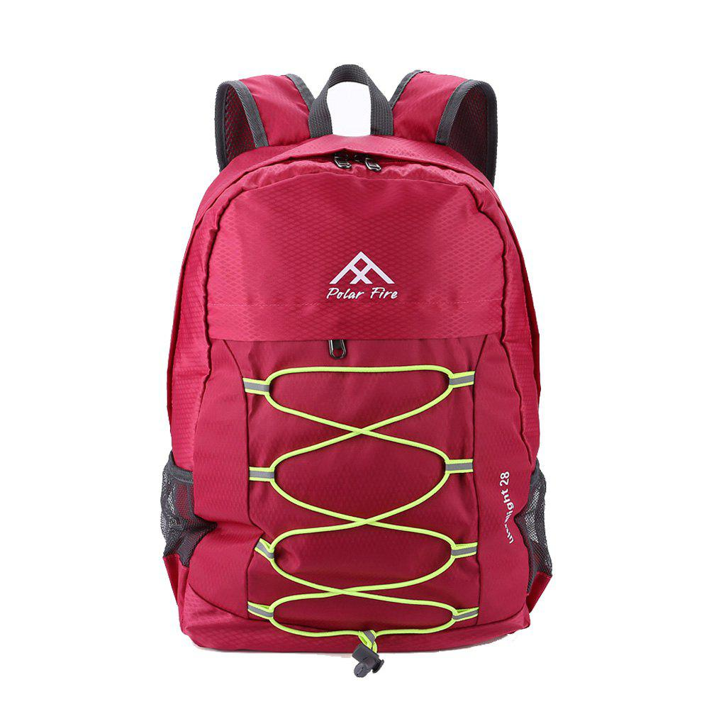 PolarFire Outdoor Travel Camping Backpack Water Resistant Foldable Bag - ROSE RED