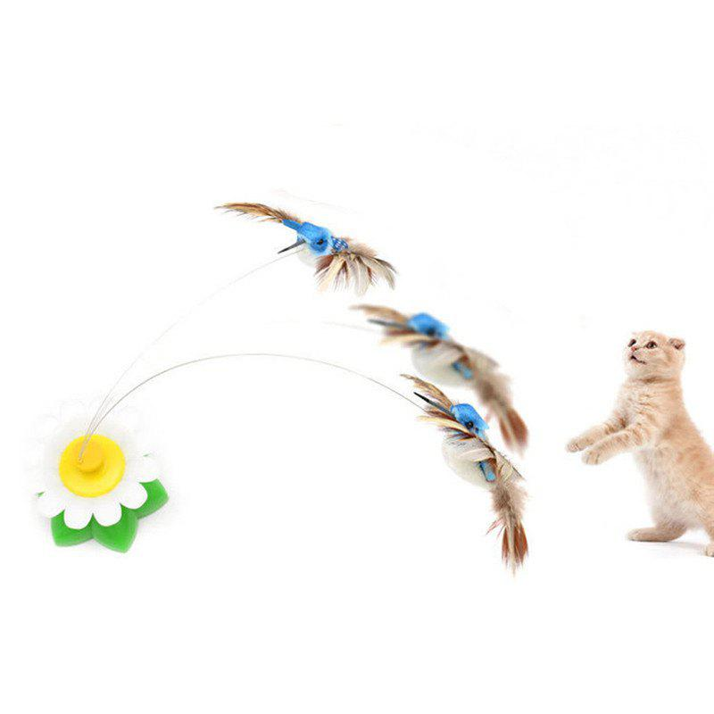 Birds Flying Electric Amusement Cat Interactive Small Toys - multicolor A