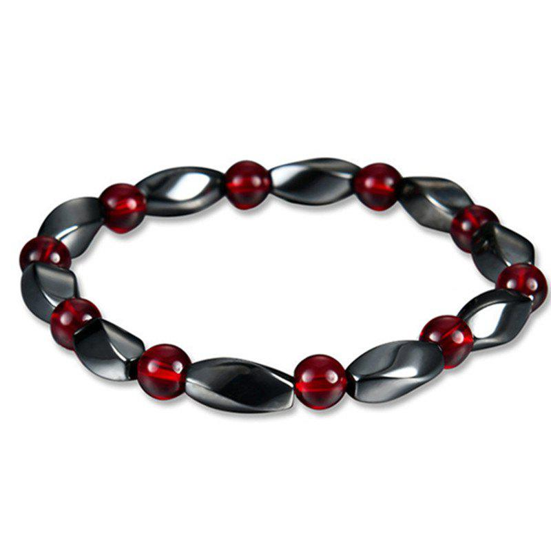 Stylish Personality Unique Red Magnet Stone Bracelet Woman - multicolor A