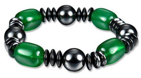Fashion Personality Exaggerated Special Green Magnet Stone Bracelet Woman - multicolor A
