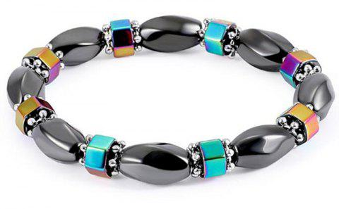 Fashion Personality Exaggerated Color Magnet Stone Bracelet Women Men - multicolor A