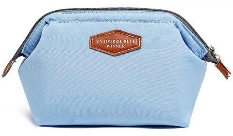 Multifunctional Fashion Frog Mouth Steel Cotton Cloth Cosmetic Bag - POWDER BLUE