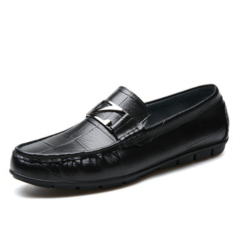 Male Outdoor Soft Driving Flat Loafers Leather Men Casual Shoes mycolen fashion spring style soft moccasins men loafers high quality genuine leather shoes men flats gommino driving shoes