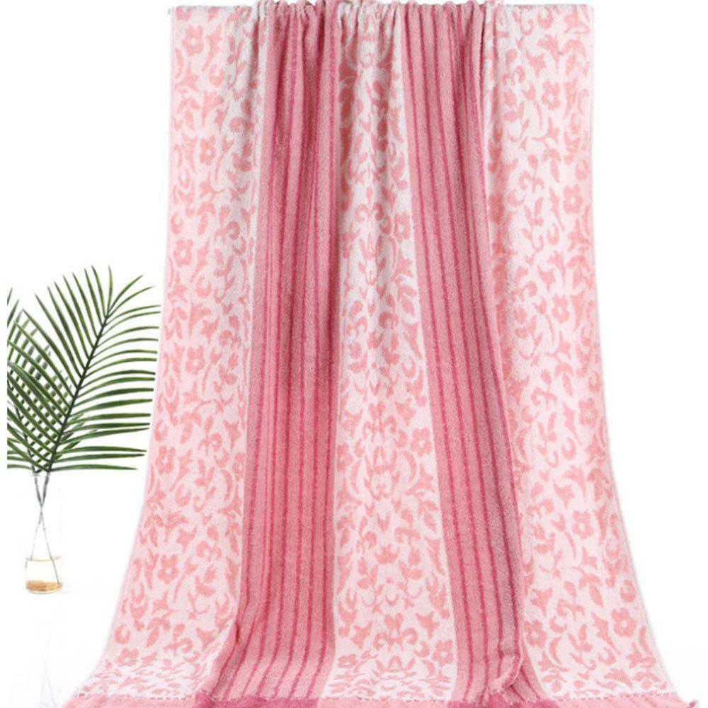 Pure Cotton Soft Twist Thickened Bath Towel - PINK ROSE