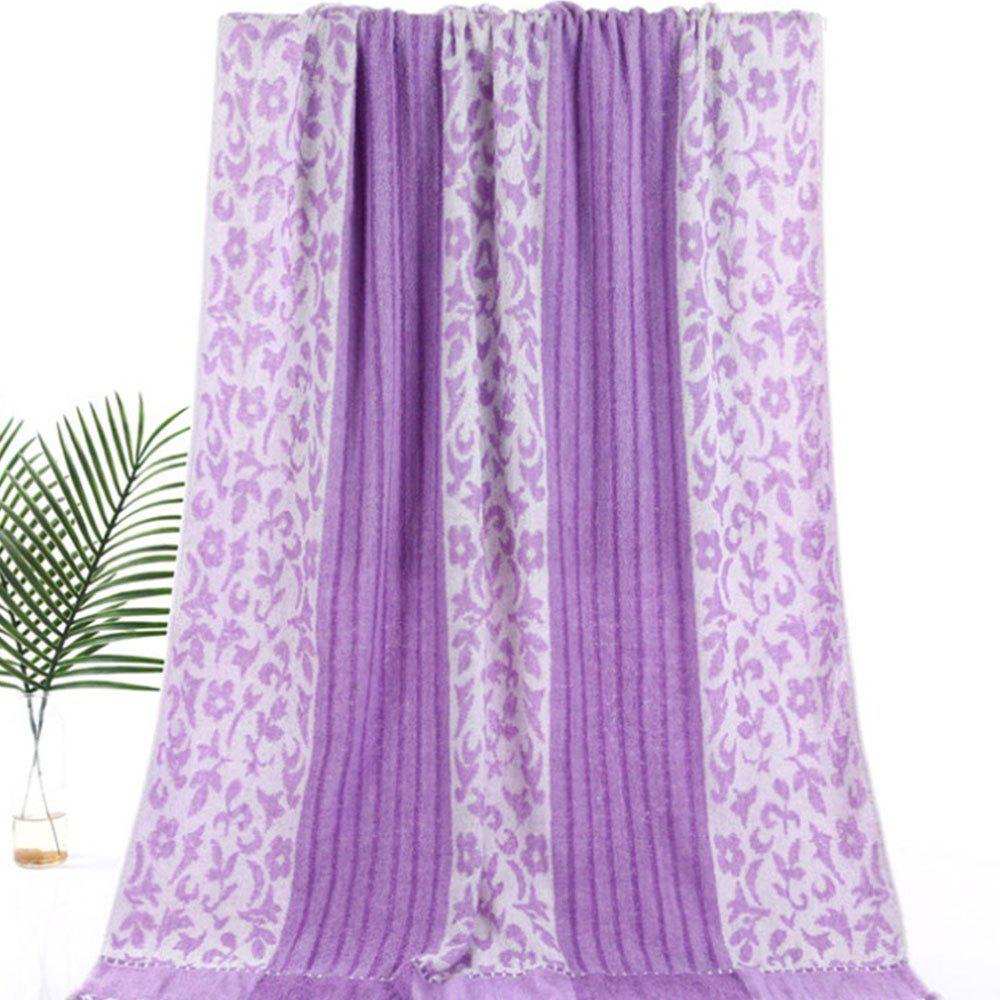 Pure Cotton Soft Twist Thickened Bath Towel - LILAC