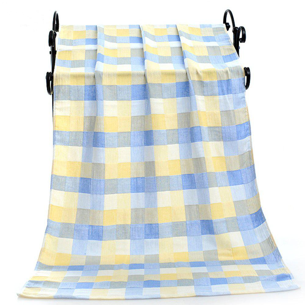 Cotton Colored Children's Blanket Bath Towel - PASTEL BLUE