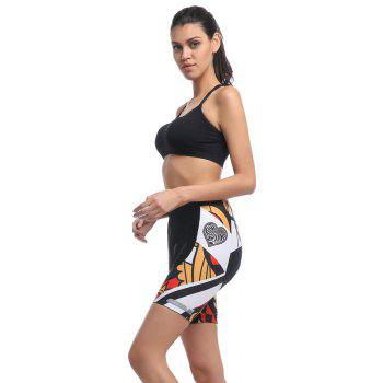 Twotwowin CK803 Women's Cycling Shorts with 3D CoolMax Pad - BLACK XL