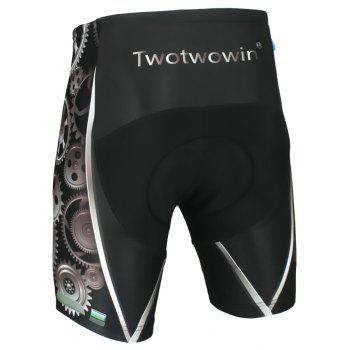 Twotwowin CK83 Men'S Cycling Shorts with 3D CoolMax Padded - BLACK M