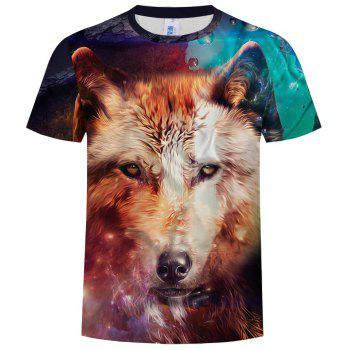 2018 Summer 3D Short Sleeve T-Shirt - multicolor A L