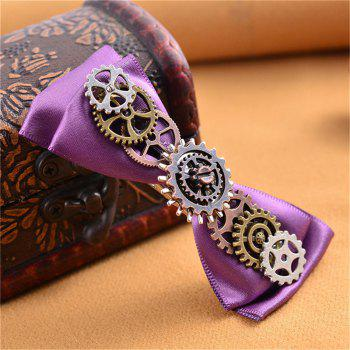 European and American Hot Steampunk Gear Fabric Butterfly Duck Mouth Hairpin - multicolor
