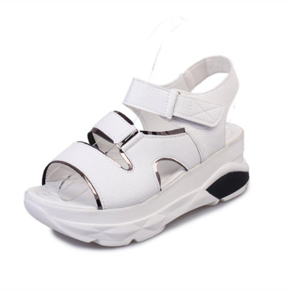 2018 New All-match Thick Velcro Toe Sandals - WHITE 40