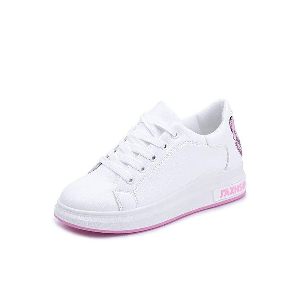 2018 New Casual Shoes All-match Embroidery - PINK 38