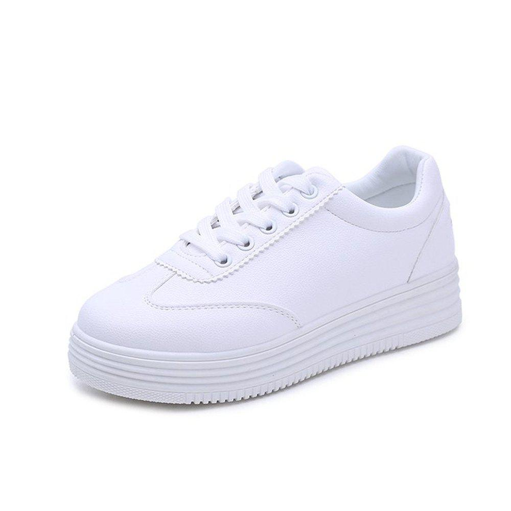 2018 New Comfortable All-match Thick Bottom Students Leisure Shoes - WHITE 38