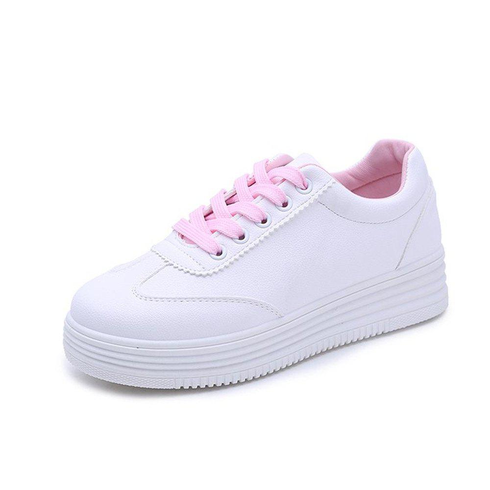 2018 New Comfortable All-match Thick Bottom Students Leisure Shoes - PINK 36