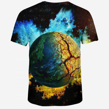 New Summer Men's 3D Printed Ball Pattern Short-Sleeve T-shirt - NATURAL BLACK 2XL