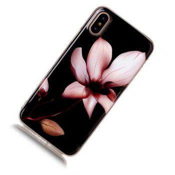 Perfect Fitted Beautiful Flower Cartoon Soft TPU Case for iphone X - BLACK