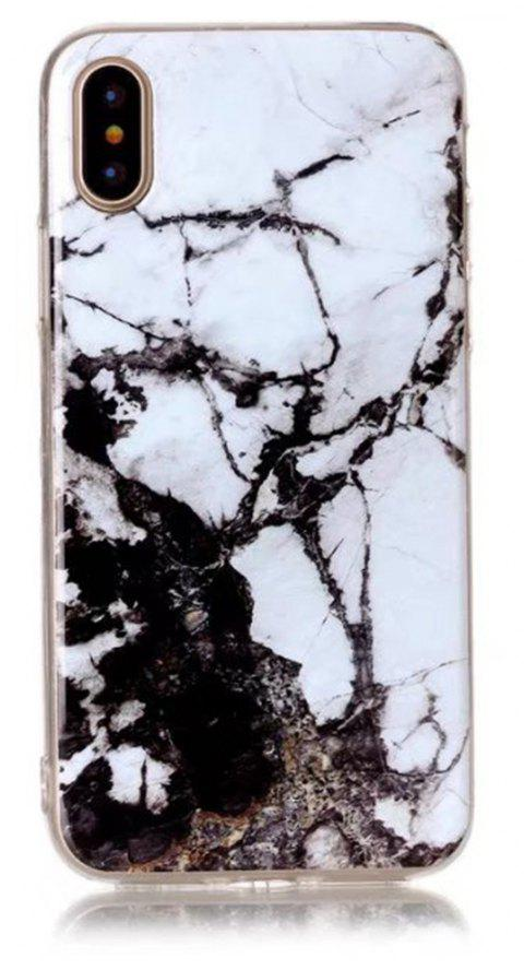 Perfect Fitted Beautiful White Marble Patteren Soft TPU Case for iphone X - WHITE
