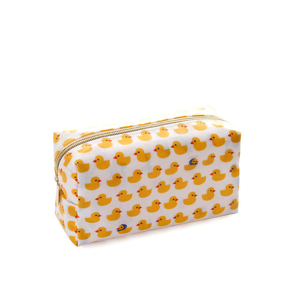 Nm-01 Rough Section Lady Holding Cosmetic Bag 3 Colors - YELLOW