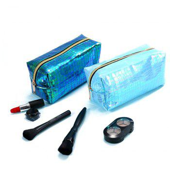 Sms-02 New Style Colorful Laser Cosmetic Bag 3 Colors - LIGHT BLUE