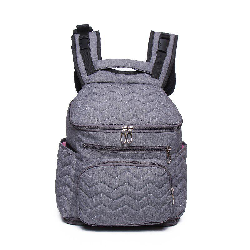 Large Capacity and Durable Washed Cotton Multi Pocket Earphone Jacket Mummy Bag - SLATE GRAY