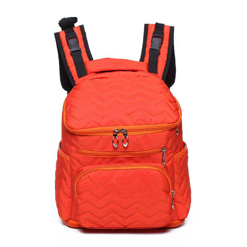 Large Capacity and Durable Washed Cotton Multi Pocket Earphone Jacket Mummy Bag - PUMPKIN ORANGE