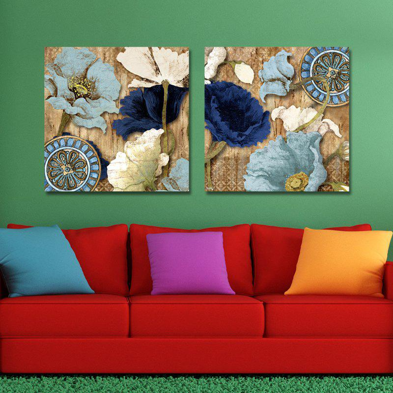 MY43-XDZS - 146-147 Fashionable Flower Print Art Ready to Hang Paintings 2PCS dyc 10103 4pcs dogs print art ready to hang paintings