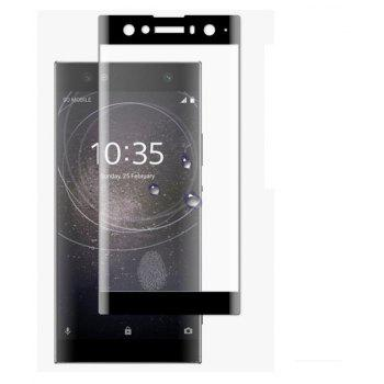 3D Curved Tempered Glass Protective Film for Sony XA2 UItra - BLACK 0.33
