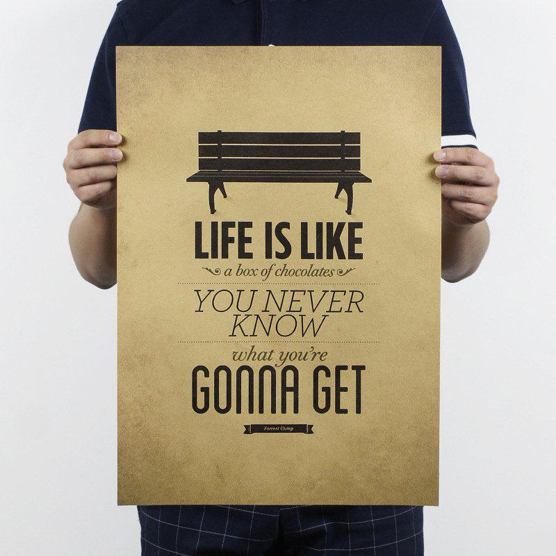 Retro Poster Life Is Like A Box of Chocolate Wall Stickers - multicolor