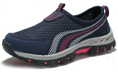 Men Casual Fashion Mesh Outdoor Breathable Shoes - MIDNIGHT BLUE 42