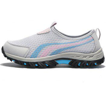 Men Casual Fashion Mesh Outdoor Breathable Shoes - GRAY CLOUD 40