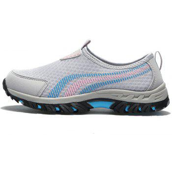 Men Casual Fashion Mesh Outdoor Breathable Shoes - GRAY CLOUD 43