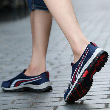 Men Casual Fashion Mesh Outdoor Breathable Shoes - MIDNIGHT BLUE 39
