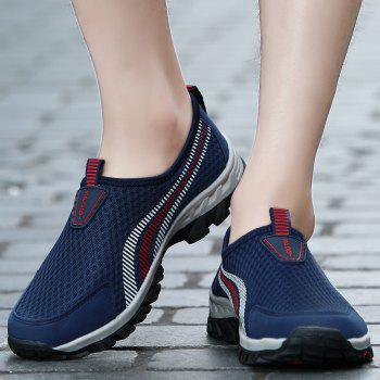 Men Casual Fashion Mesh Outdoor Breathable Shoes - MIDNIGHT BLUE 41