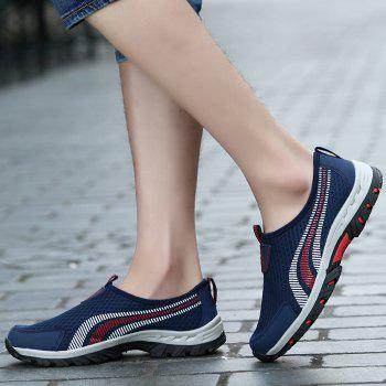 Men Casual Fashion Mesh Outdoor Breathable Shoes - MIDNIGHT BLUE 43