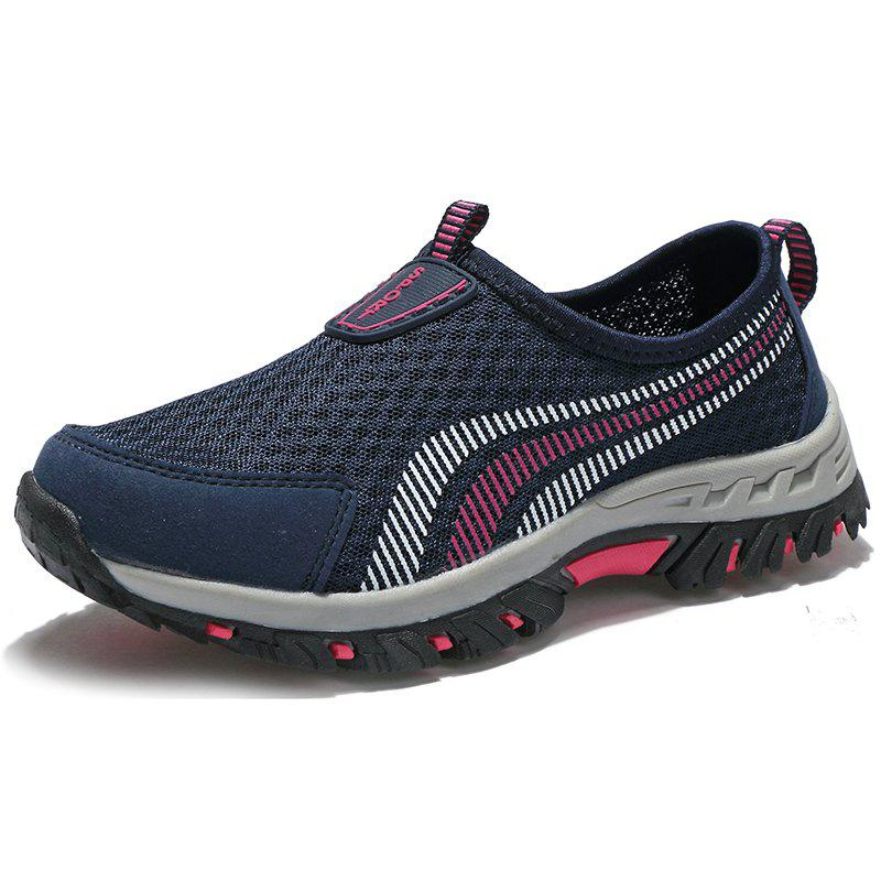 Men Casual Fashion Mesh Outdoor Breathable Shoes - MIDNIGHT BLUE 44