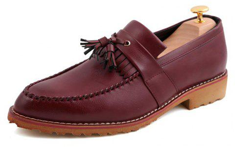 Men Casual Fashion Business Leather Shoes - MAROON 38