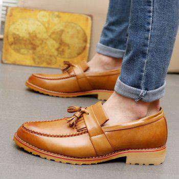Men Casual Fashion Business Leather Shoes - BROWN SUGAR 40
