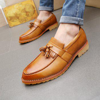 Men Casual Fashion Business Leather Shoes - BROWN SUGAR 39