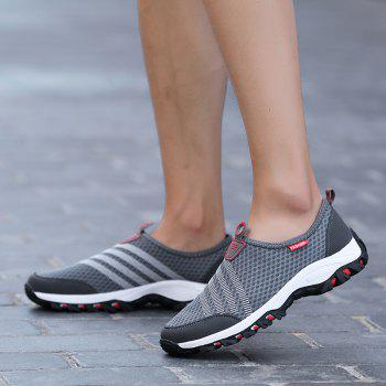 Men Casual Fashion Mesh Breathable Shoes - GRAY 44