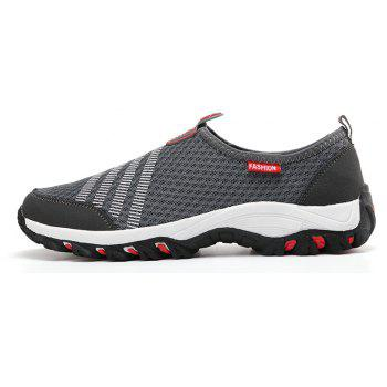 Men Casual Fashion Mesh Breathable Shoes - GRAY 41