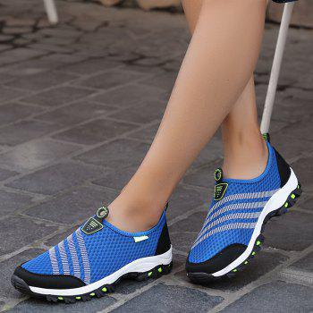 Men Casual Fashion Mesh Breathable Shoes - SAPPHIRE BLUE 40