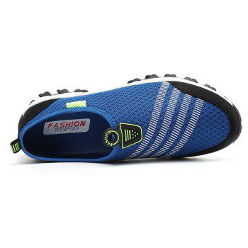 Men Casual Fashion Mesh Breathable Shoes - SAPPHIRE BLUE 44