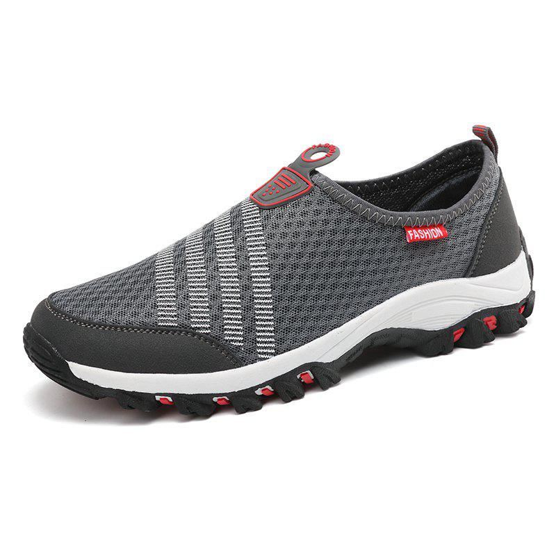 Men Casual Fashion Mesh Breathable Shoes - GRAY 43
