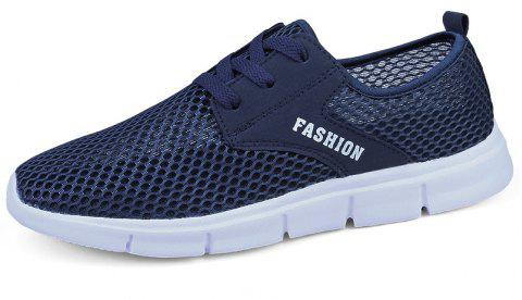Lightweight Breathable Mesh Beach Shoes Comfort FlatsSneakers - NAVY BLUE 42